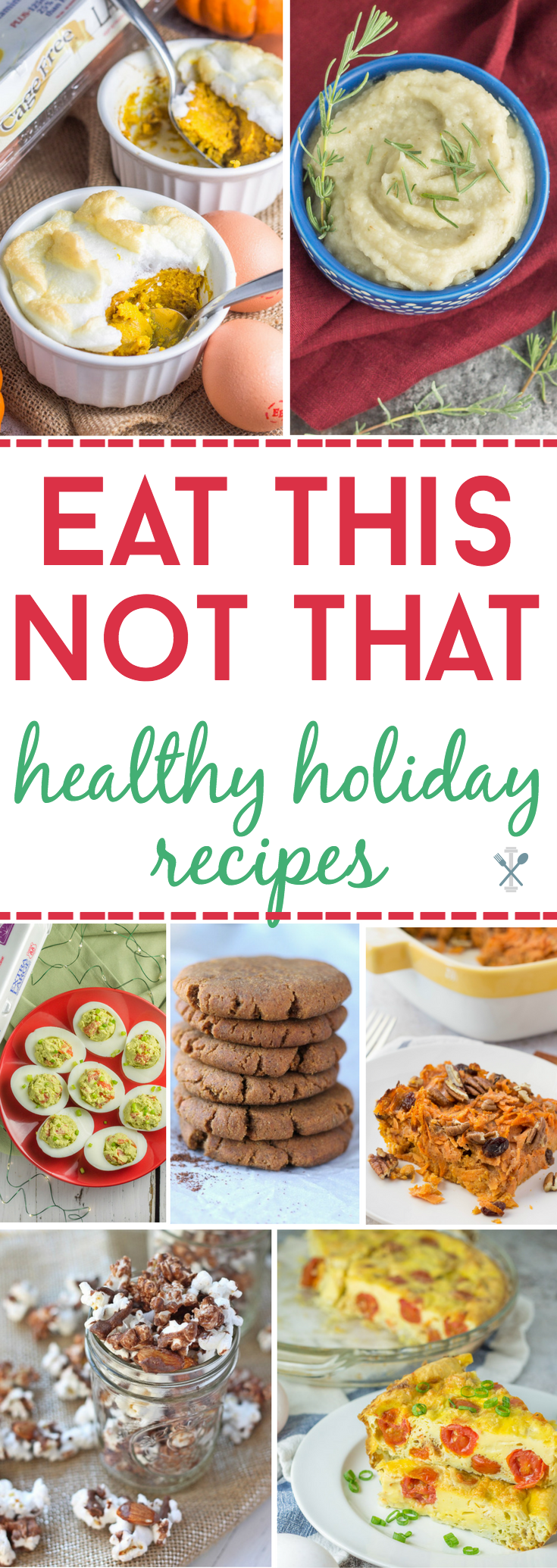 A roundup of healthy holiday recipes inspired by the classics. Lighten up your pumpkin pie, moose munch, and breakfast casseroles!  Dairy free and gluten free, many made with Eggland's Best eggs! #ad