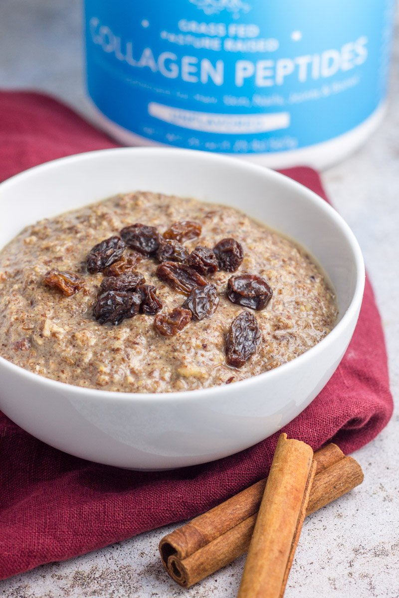 This grain free, paleo porridge recipe is make with a few simple ingredients and packed with healthy fat, protein, and collagen