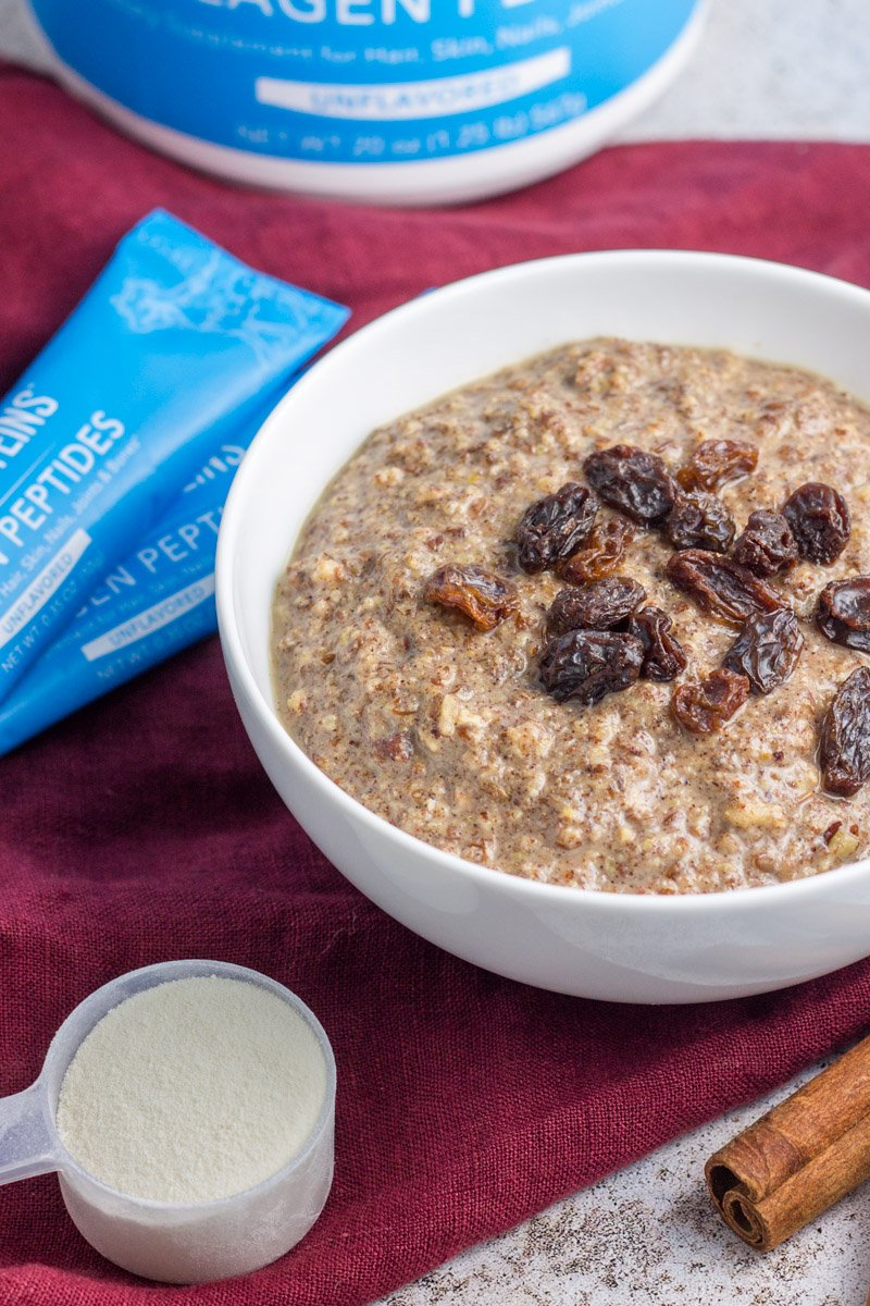 A quick and easy eggless breakfast - paleo and grain free! Gingerbread porridge