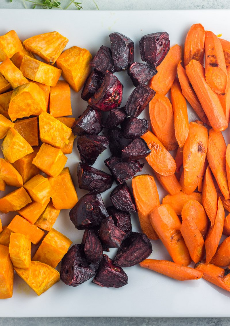 Roasted root vegetables for the best paleo side dish!