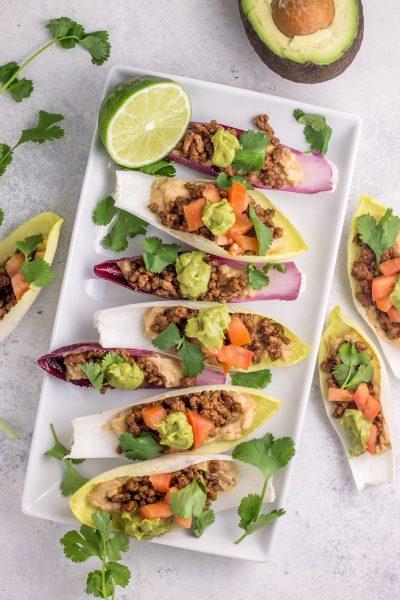 Endive Plantain Taco Cups