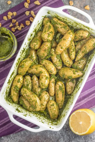 Walnut Pesto Roasted Potatoes (Whole30)