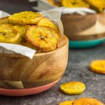 These plantain chips made in the Instant Pot are crispy and perfectly snack-able. Paleo and Whole30