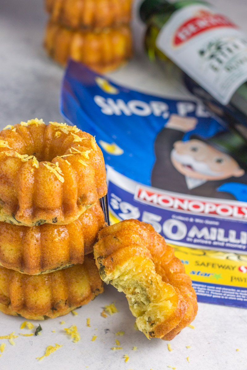 Win free groceries with ABCO's 2018 Monopoly game, and make these mini paleo bundt cakes