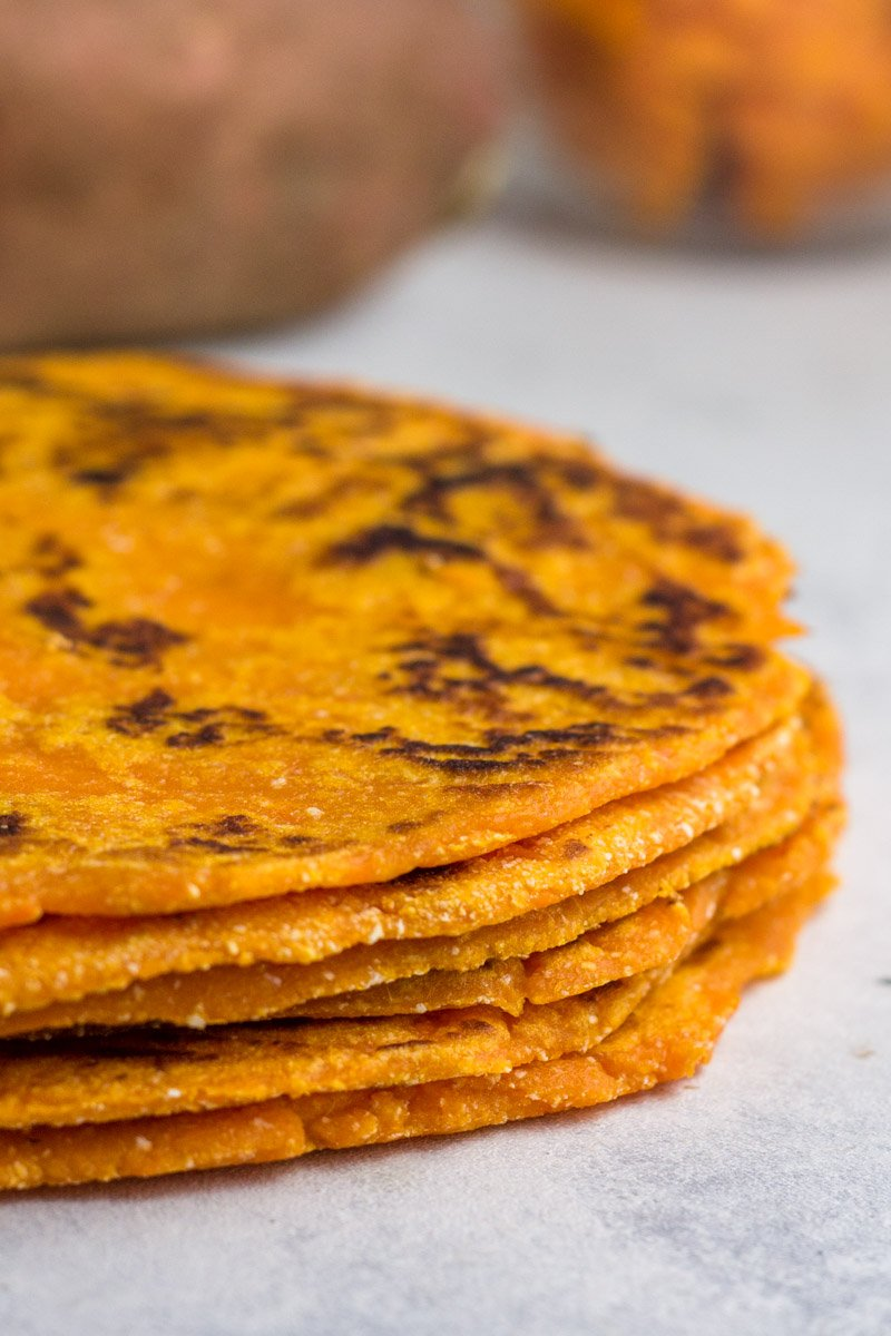 Paleo sweet potato tortillas made with simple ingredients - the taste is out of this world!