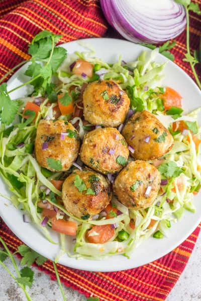 Fish Taco Balls over Pico De Gallo Slaw (paleo + Whole30)