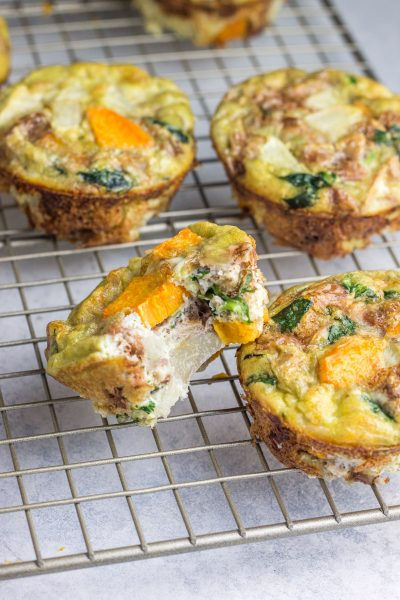 Pear Walnut Sweet Potato Egg Cups (paleo + Whole30)