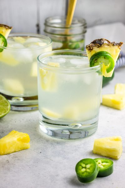 Skinny Pineapple and Jalapeno Infused Vodka Cocktail