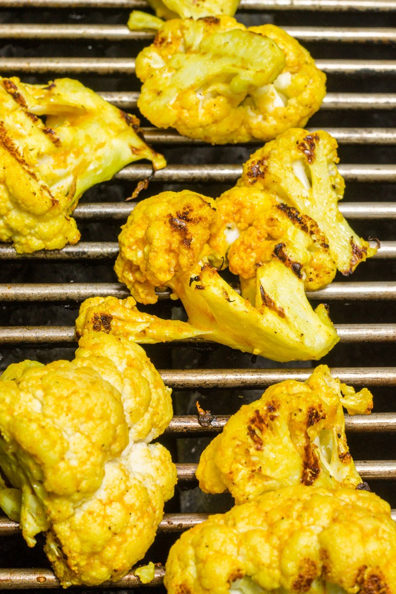 Golden turmeric grilled cauliflower