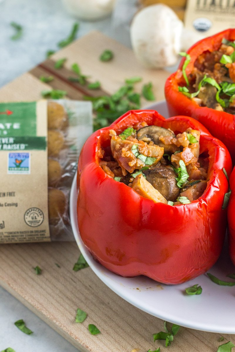 Grilled stuffed pepper with simple, paleo ingredients!