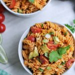 This gluten free pasta salad with a summer staple - real, healthy ingredients.
