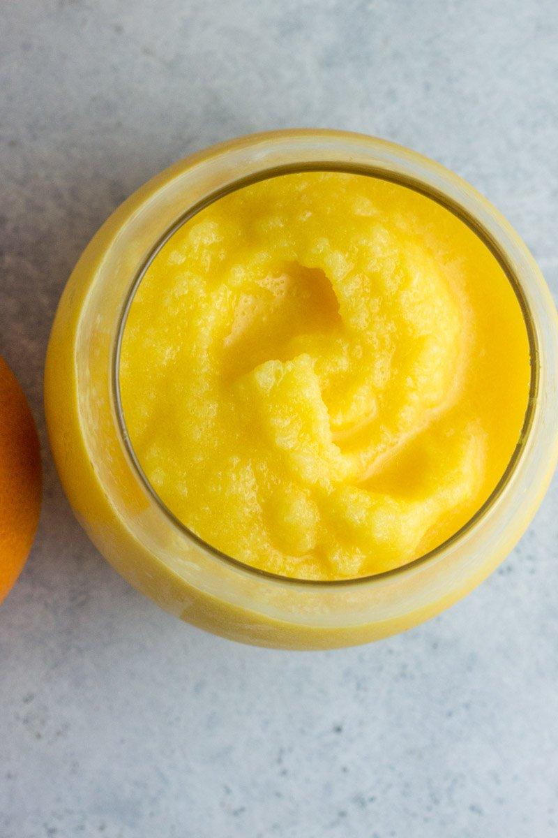 Paleo orange slushie recipe - creamsicle inspired