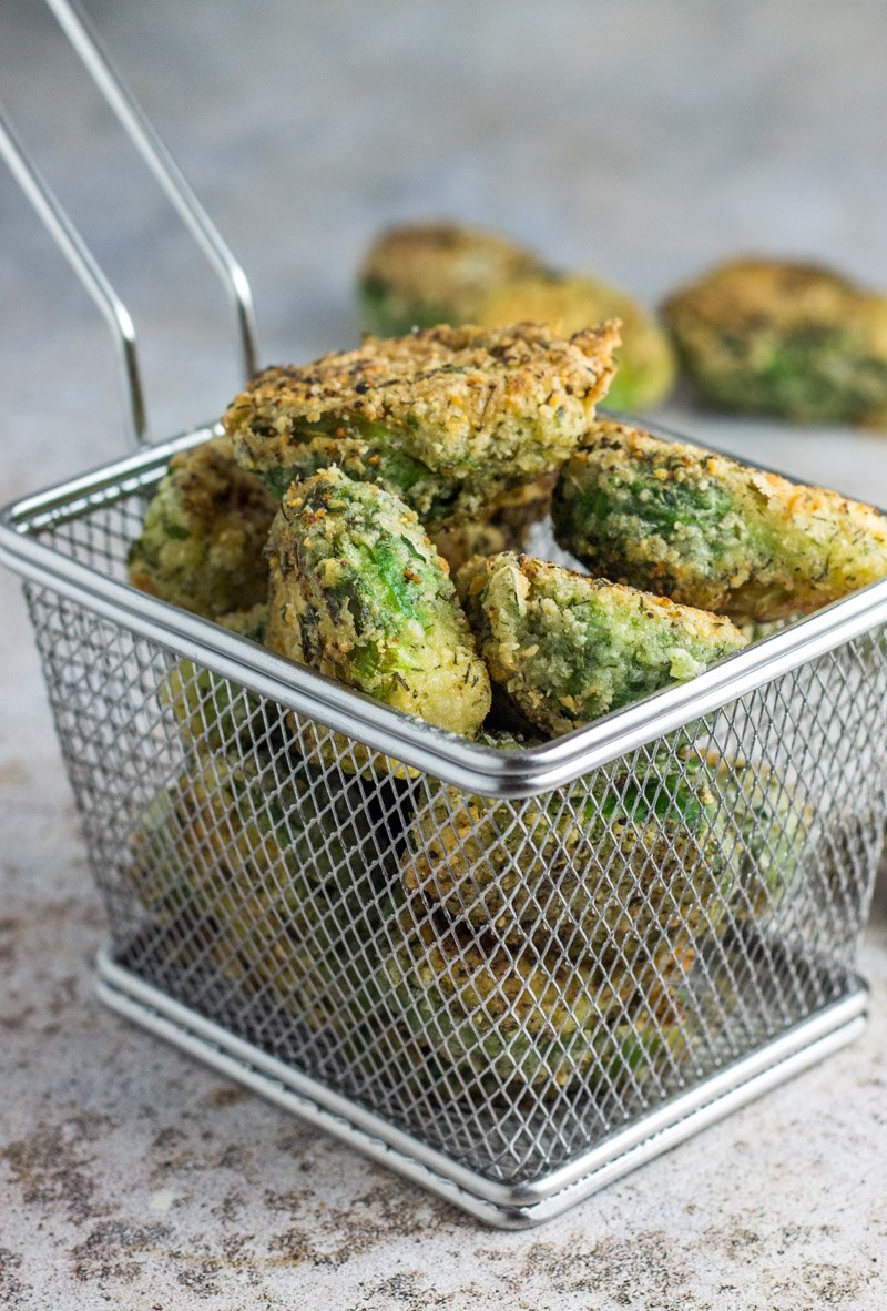 Fried ranch Brussels sprouts that are healthy! Paleo & Whole30 compliant