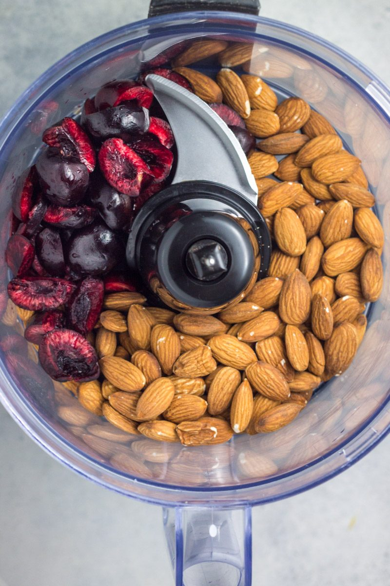 Homemade black cherry almond butter