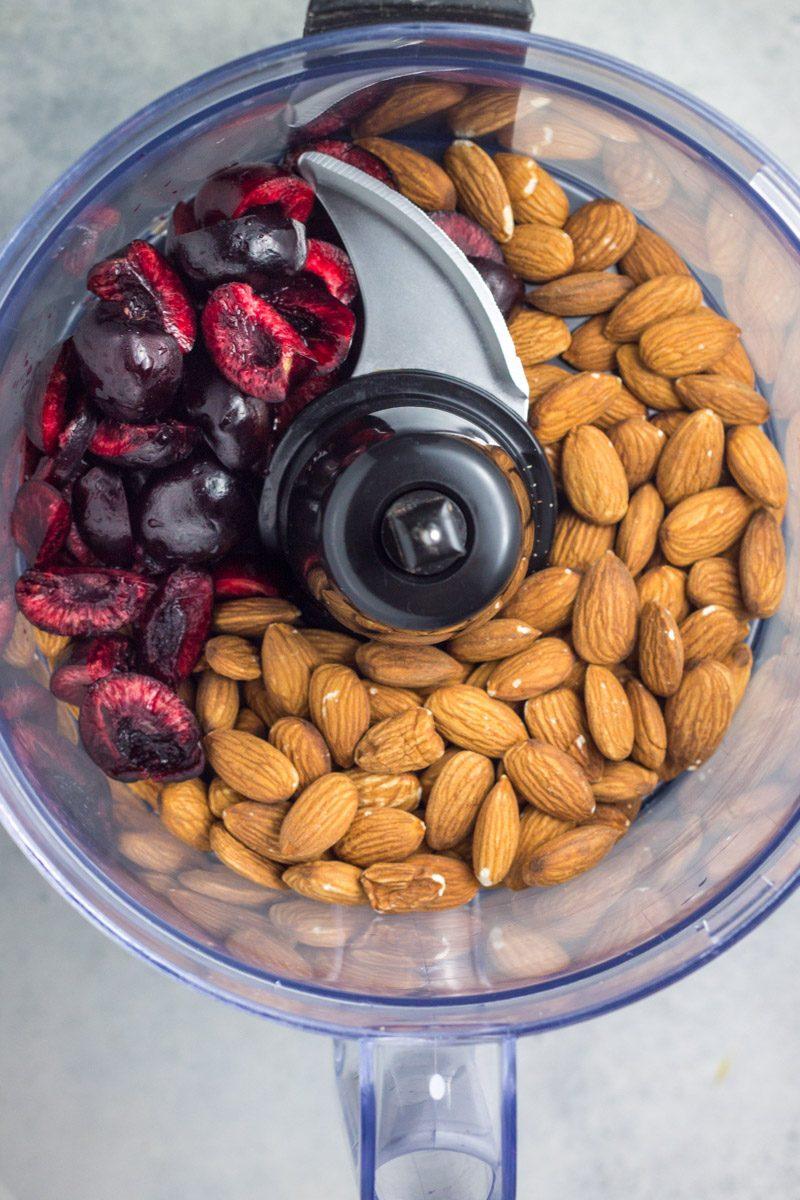 Homemade black cherry almond butter