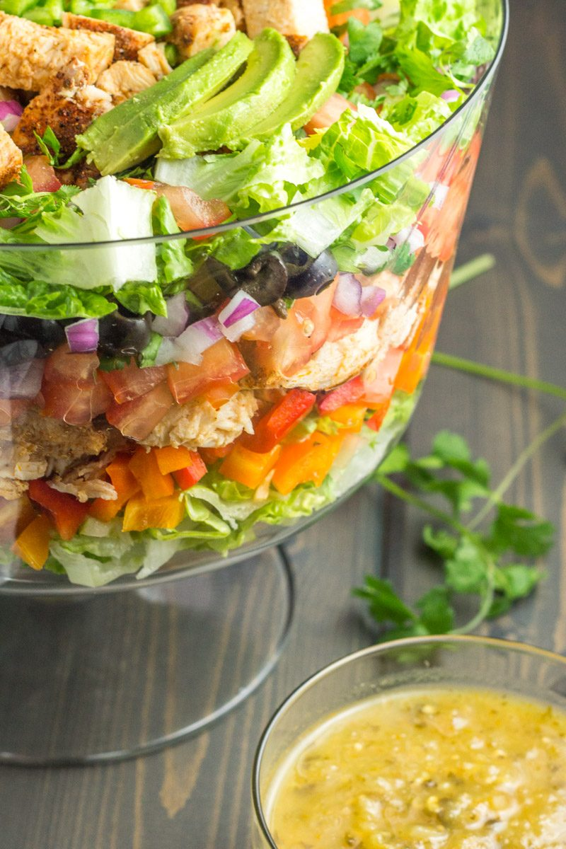 This taco salad with a cool dish to serve at any part. Healthy, paleo, Whole30 compliant