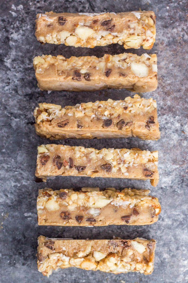 These vegan granola cookie dough bars are made gluten free and dairy free. An amazing freezer treat everyone will love