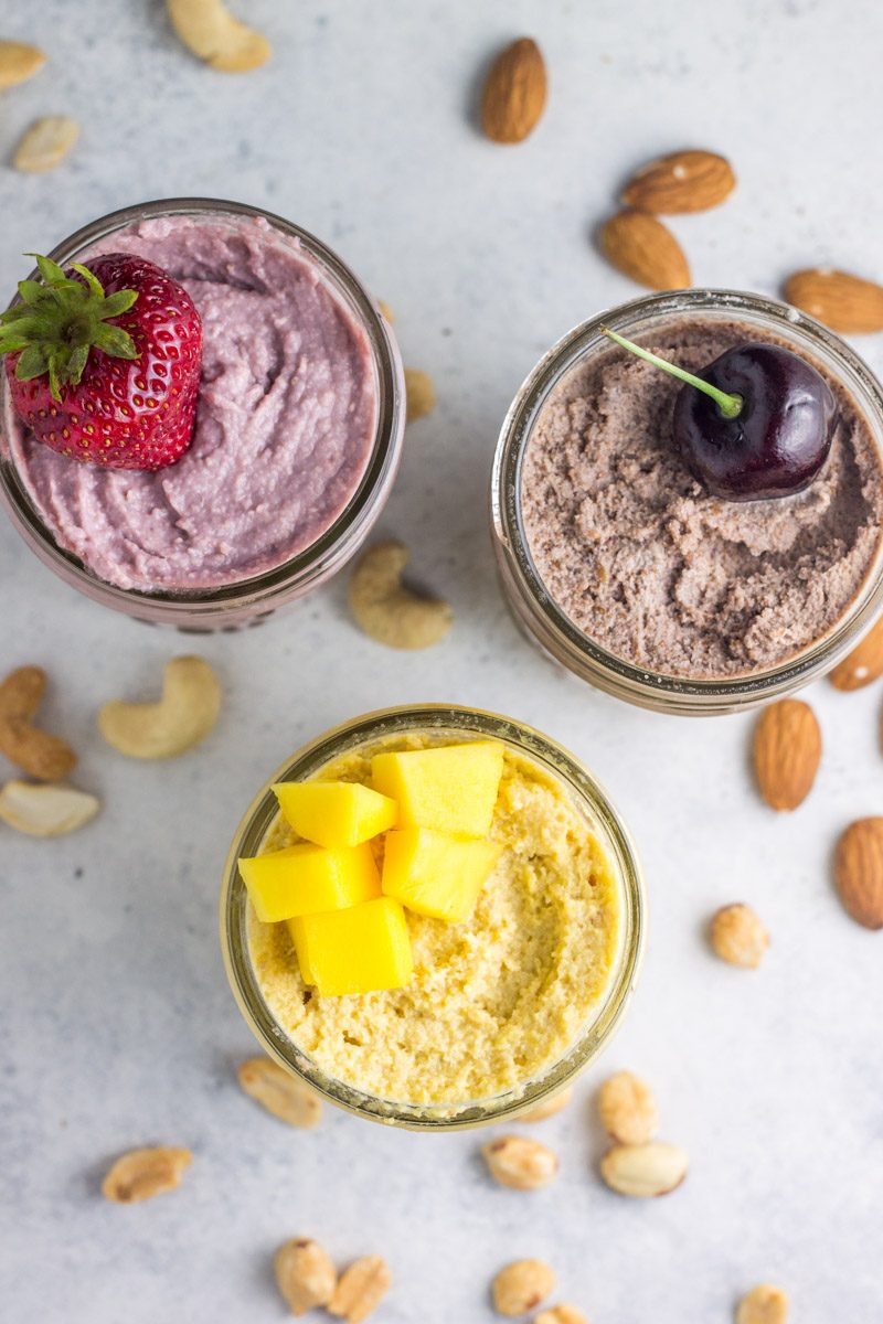 These dessert nut butters are blended with real fruit for a perfectly healthy treat!