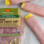Ham and pineapple deli meat wraps