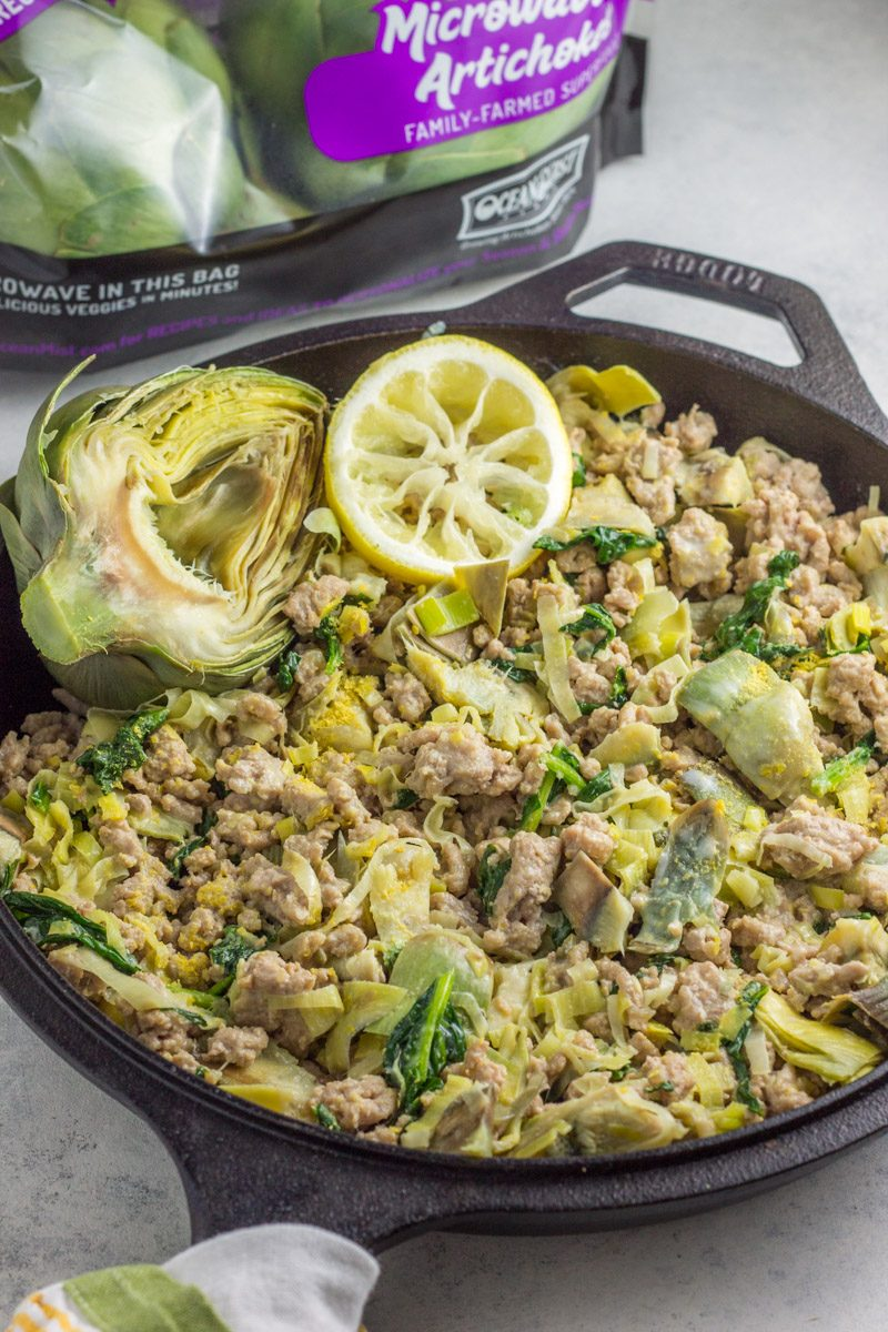 One pot paleo and Whole30 meal of the spinach artichoke lovers of the world! Dinner in 20 minutes