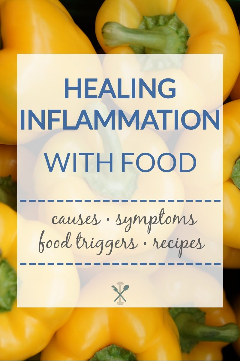 An overview all about inflammation - how it shows up in the body, symptoms, common triggers, and anti-inflammatory recipes
