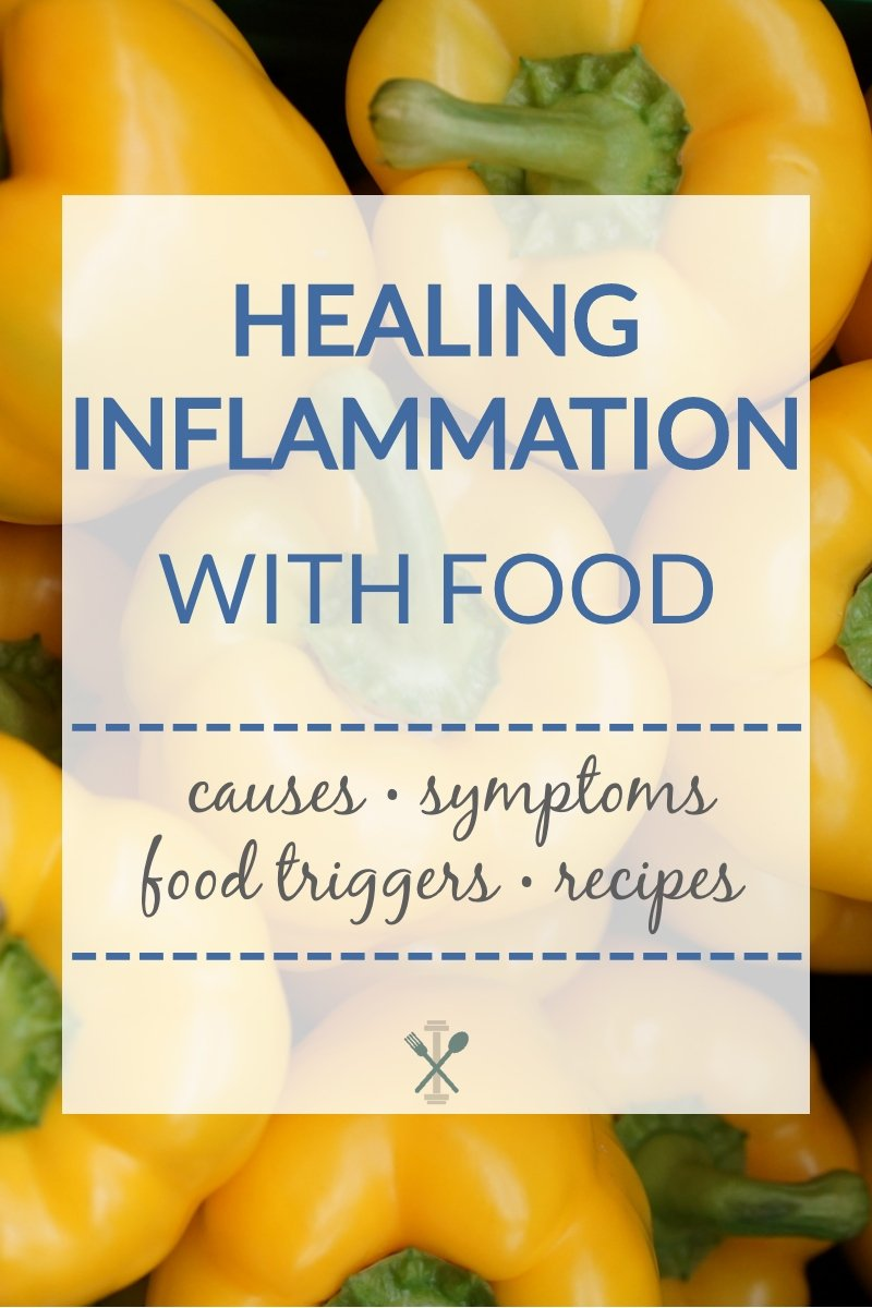 Healing Inflammation with Food - the common causes of inflammation, symptoms, food triggers, and anti inflammatory recipes