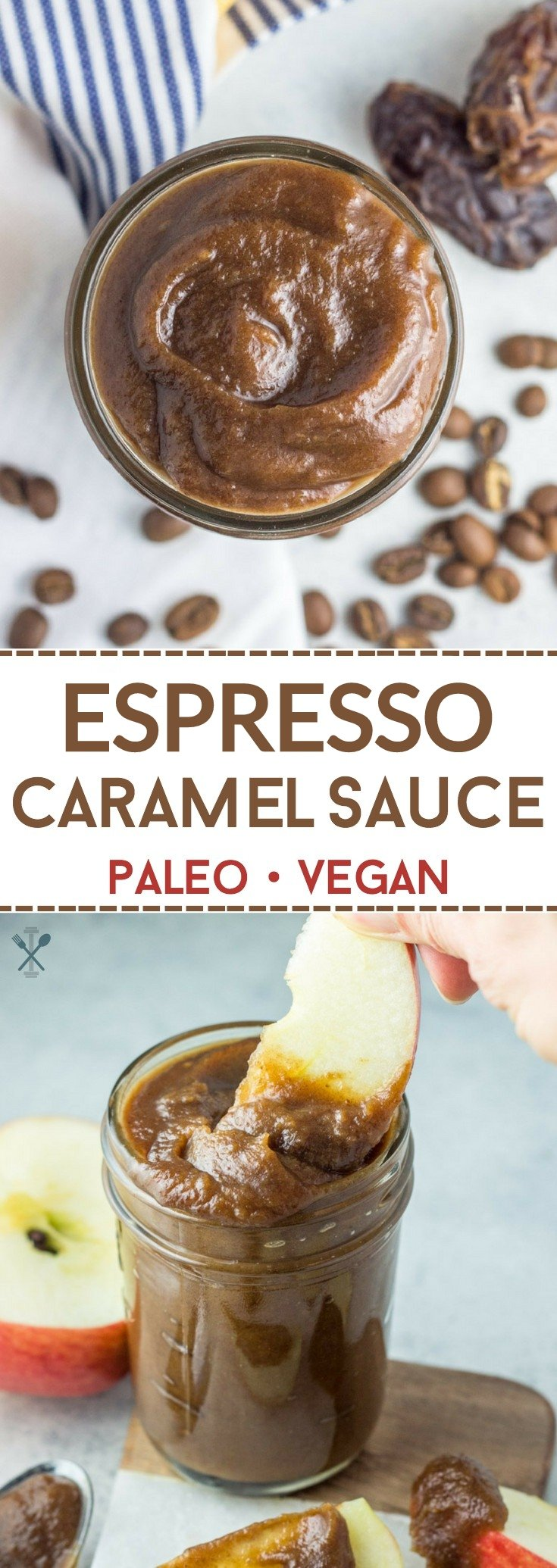 This healthy espresso caramel sauce is paleo and vegan, made with just 3 ingredients! A highly addicting spread or dip.