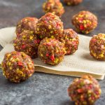 These dairy free, grain free energy balls are made with just 3 ingredients. Vegan, paleo, Whole30 compliant