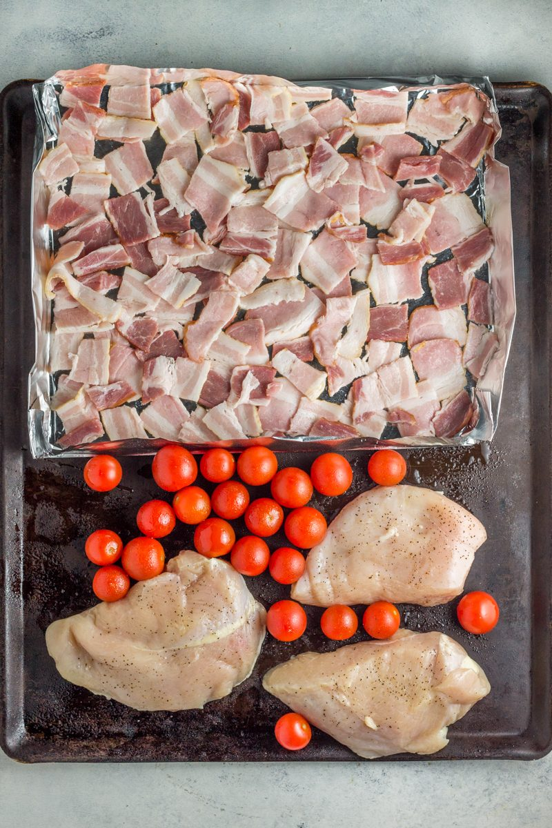 This easy sheet pan BLT chicken is so simple and the whole family will love it!