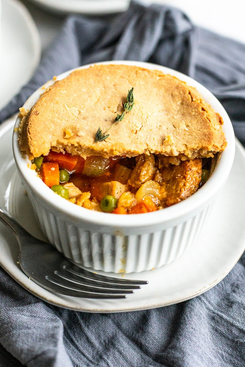 These paleo pot pies can be made with any leftover turkey or chicken. They are simple, easy, and delicious