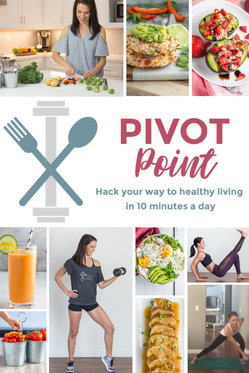 The Pivot Point 5 Day Challenge: Hack Your Way to Healthy Living in 10 Minutes a Day. A free challenge to help you live your healthiest life!