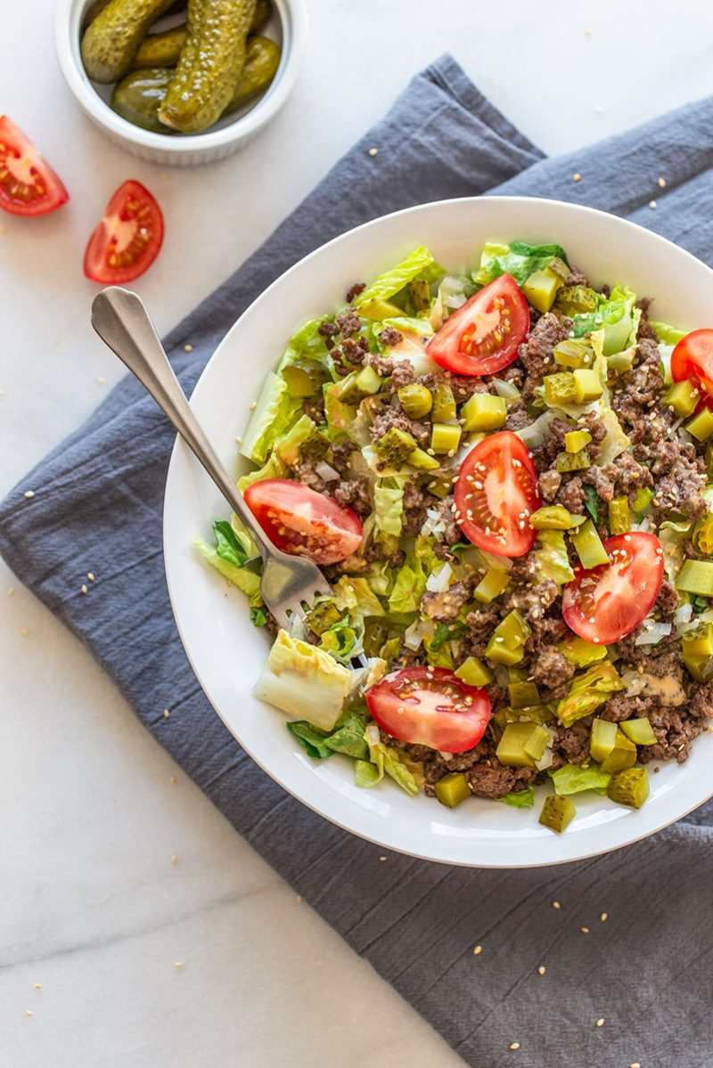 Big Mac in a bowl paleo