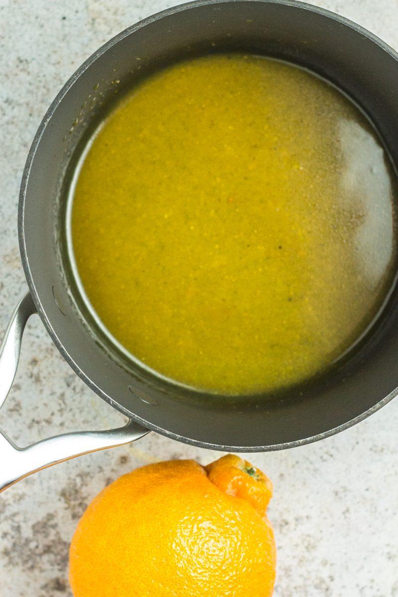 This paleo and vegan honey citrus glaze is AMAZING on roasted veggies