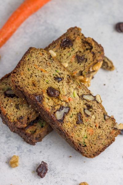 Paleo Morning Glory Banana Zucchini Bread