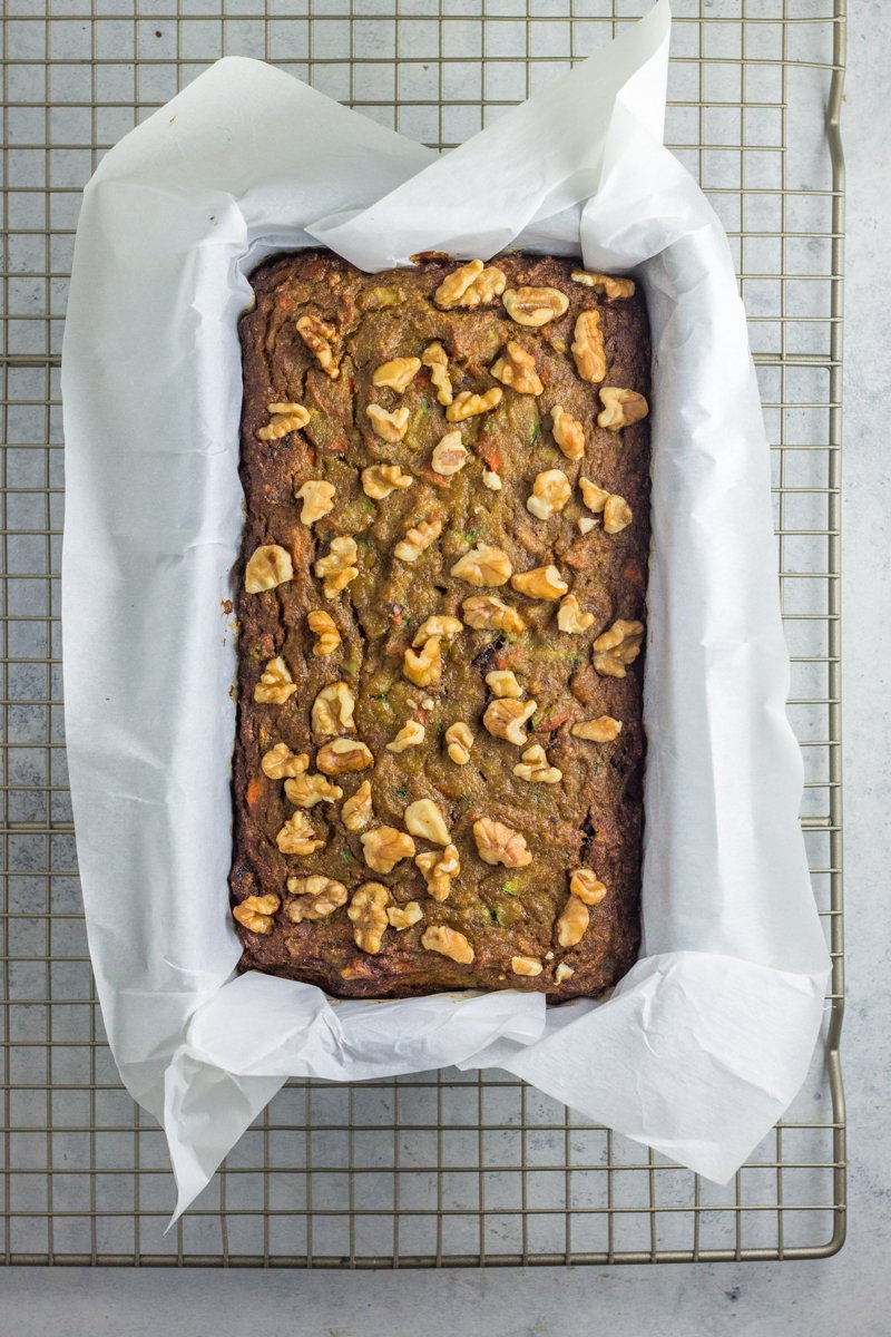 grain free hidden veggie banana bread
