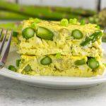 Lemon Artichoke Asparagus Egg Bake