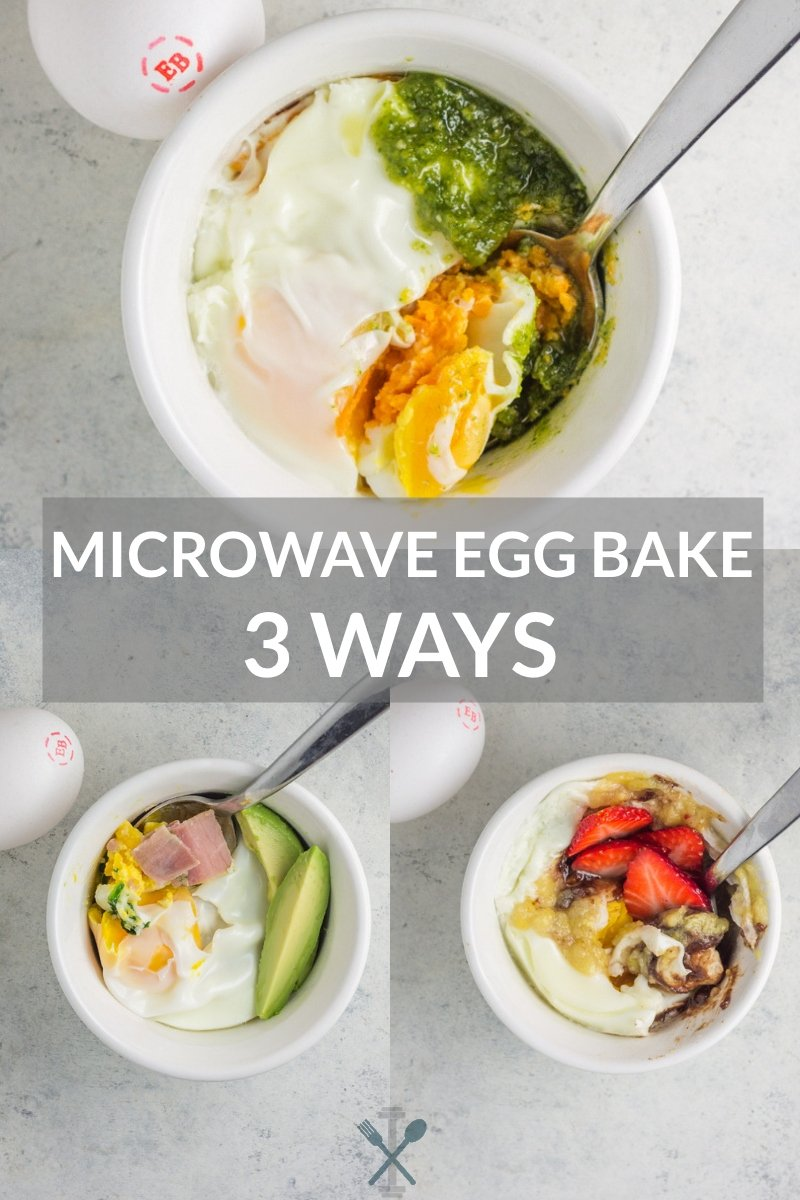 Microwave Egg Bake 3 Ways