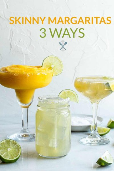 Skinny Margaritas 3 Ways