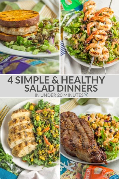 4 Simple Salad Dinners in under 20 Minutes