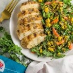 Grilled Chicken Triple Quinoa Salad