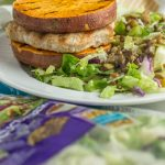 Turkey Burger Cucumber Lentil Salad