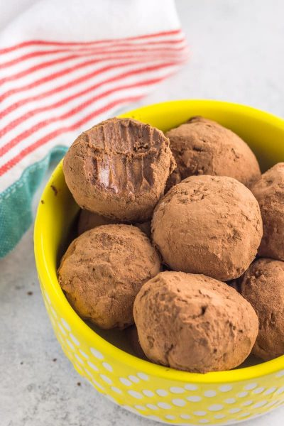 Paleo Brownie Batter Truffles (nut-free)
