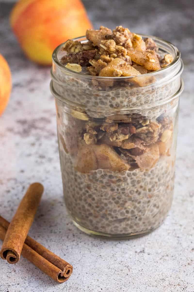 Apple Crumble Chia Pudding