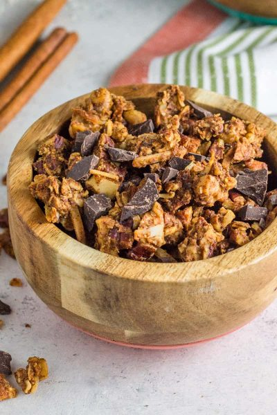 Paleo Pumpkin Chocolate Chunk Granola