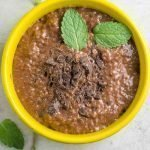 Mint brownie chia seed pudding