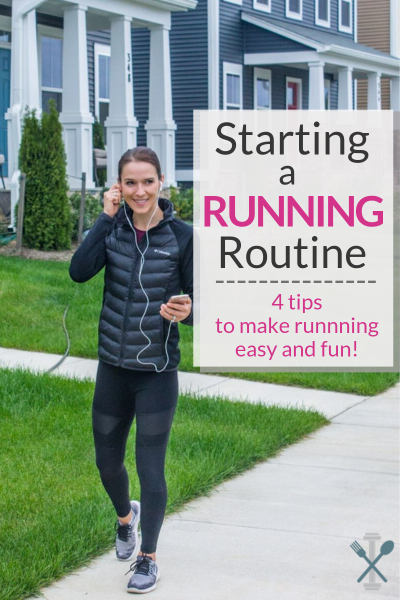 Starting a running routine