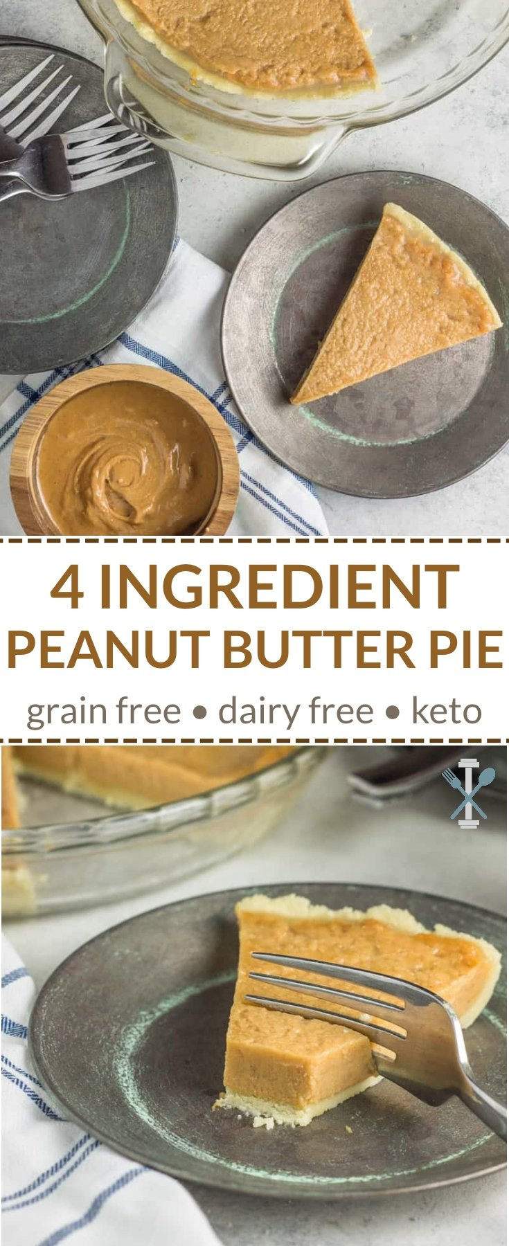 This keto, no-bake dessert is made with just 4 simple ingredients, including King Arthur Almond Flour. Grain free and dairy free. No sweetener required. #ad