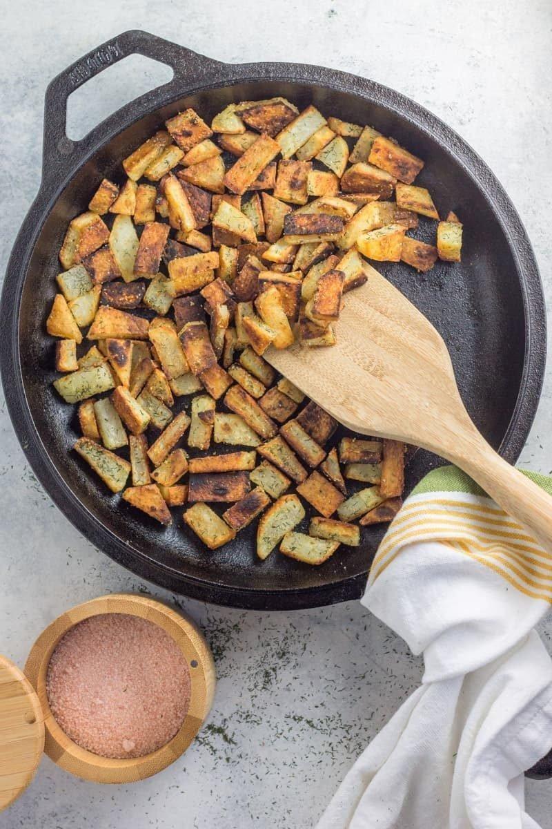 pan fried crispy potatoes